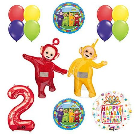 Teletubbies 2nd birthday LAA-LAA & PO Balloon Birthday Party supplies and Dec... - Teletubbies Po