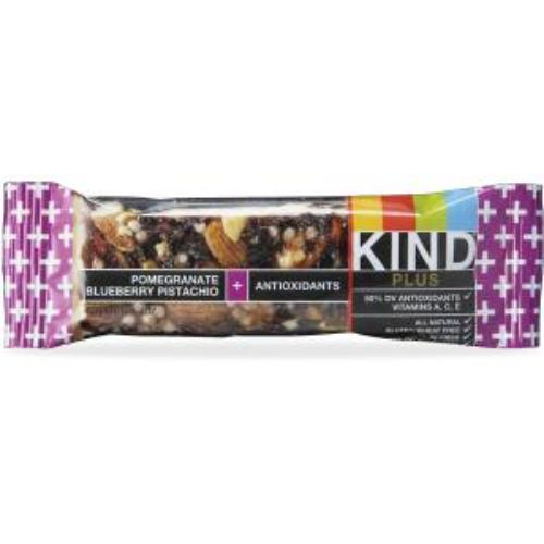 Kind Pomegranate Blueberry Pistachio Plus Bar - Gluten-free, Cholesterol-free, Individually Wrapped, Sodium-free, Non-gmo - Pistachio, Blueberry, Pomegranate - 1.40 Oz - 6 / Box (knd-17221)