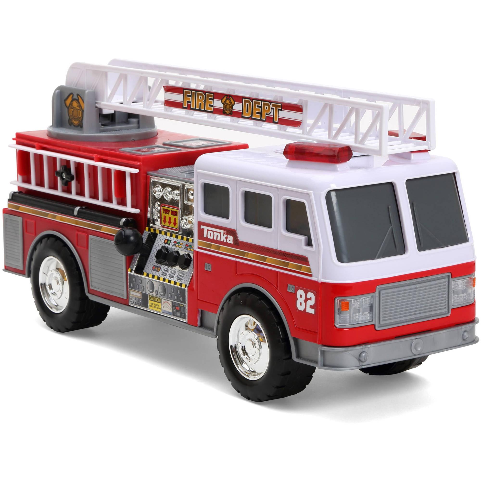 tonka mighty motorized fire engine vehicle walmart com