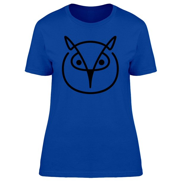 Owl Head With Black Lines Tee Women's -Image by Shutterstock