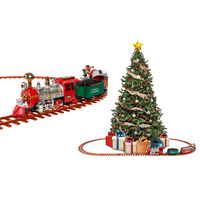 Santa's Christmas Train Set, Battery-Powered with Lights & Sounds (52 Pieces, 18 ft. of Track)