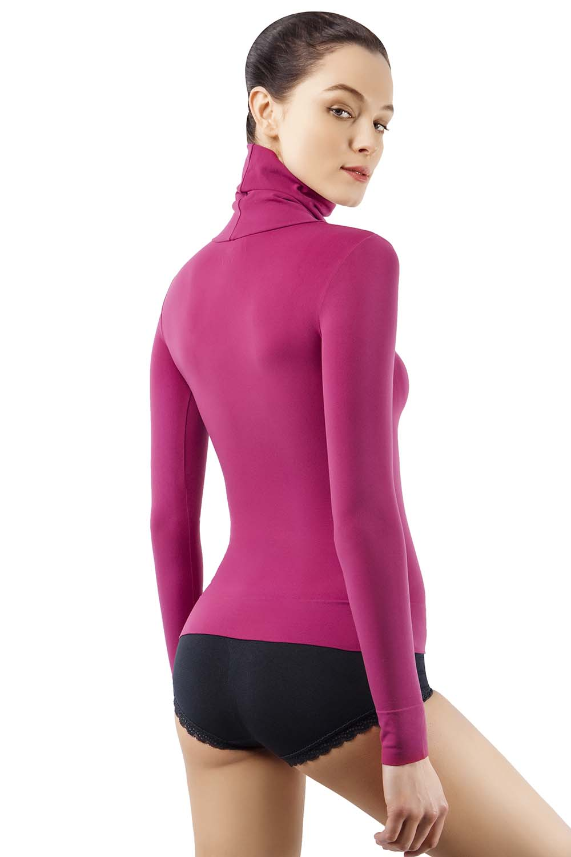 MD Basic Slim Fit Long Sleeve Turtleneck T-Shirt Thermal Underwear Waist Tummy and Bust Shaper DarkGreyL