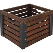 Better Homes and Gardens Wooden Milk Crate, Brown