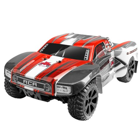 Redcat Racing Blackout SC 1/10 Scale Brushed Electric RC Short Course Truck, (Rc Airplane Racing)
