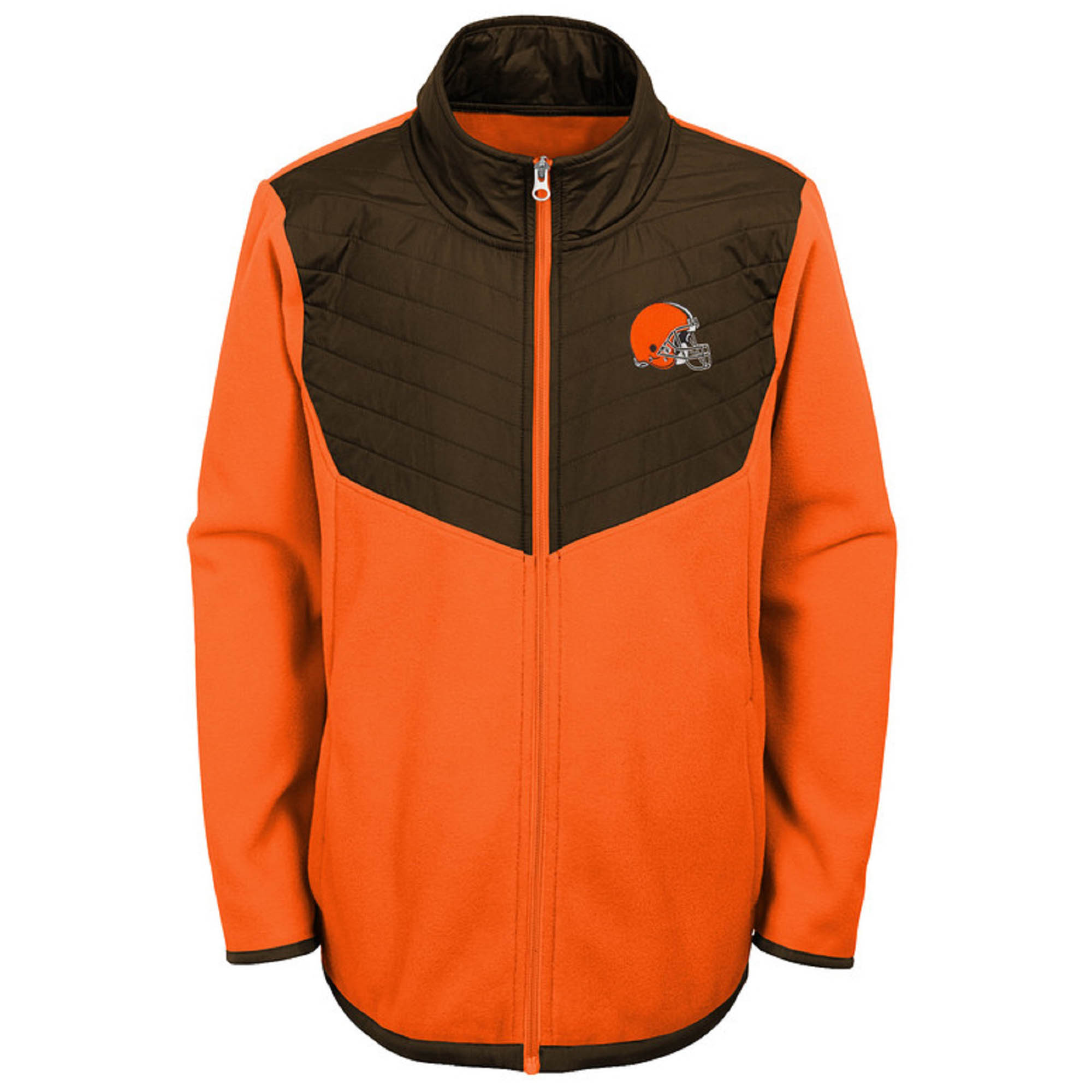 Youth Orange/Brown Cleveland Browns Polar Full-Zip Jacket