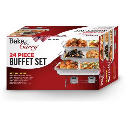 Bake and Carry 24-Piece Buffet Serving Set