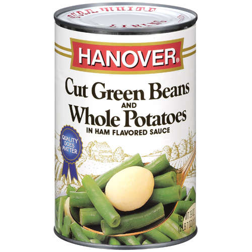 Hanover: Beans & Potatoes Cut Green & Whole In Ham Flavored Sauce, 1 Ct