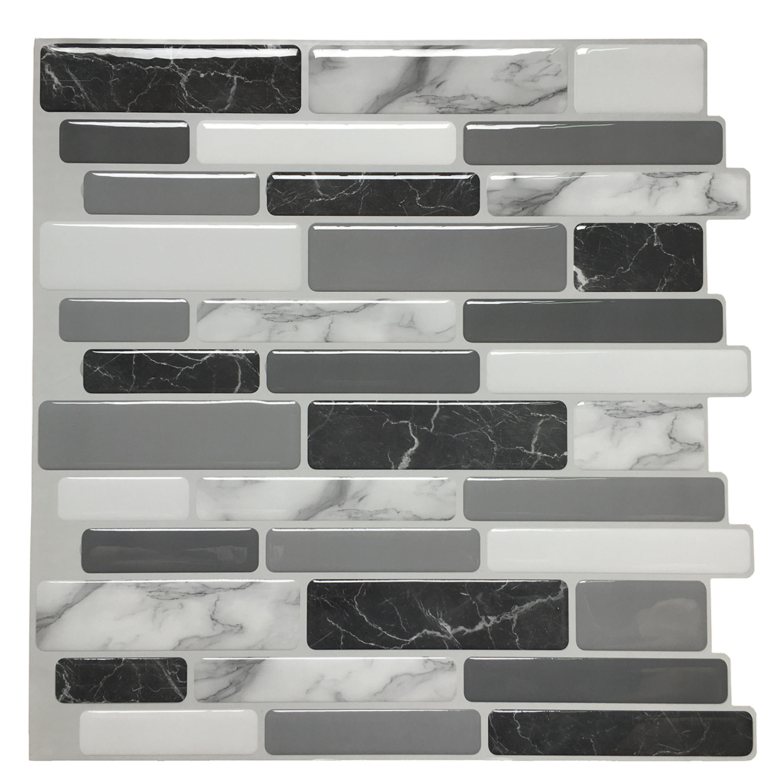 "Art3d 6-Pack Marble Peel and Stick Backsplash Tiles 12""x12"" Kitchen Backsplash Premium Vinyl Wall Stickers"
