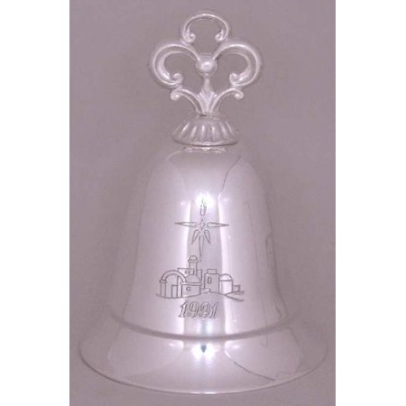 1991 Musical Bell 15th in a Series Silverplate Plays the First Noel, By Kirk