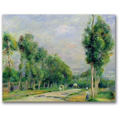 "Trademark Fine Art ""The Road to Versailles"" Canvas Art by Pierre Renoir"