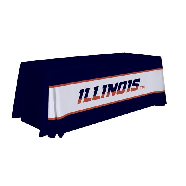 Victory Corps 810026ILL-003 6 ft. NCAA Illinois Fighting Illini Dye Sublimated Table Throw - No.003