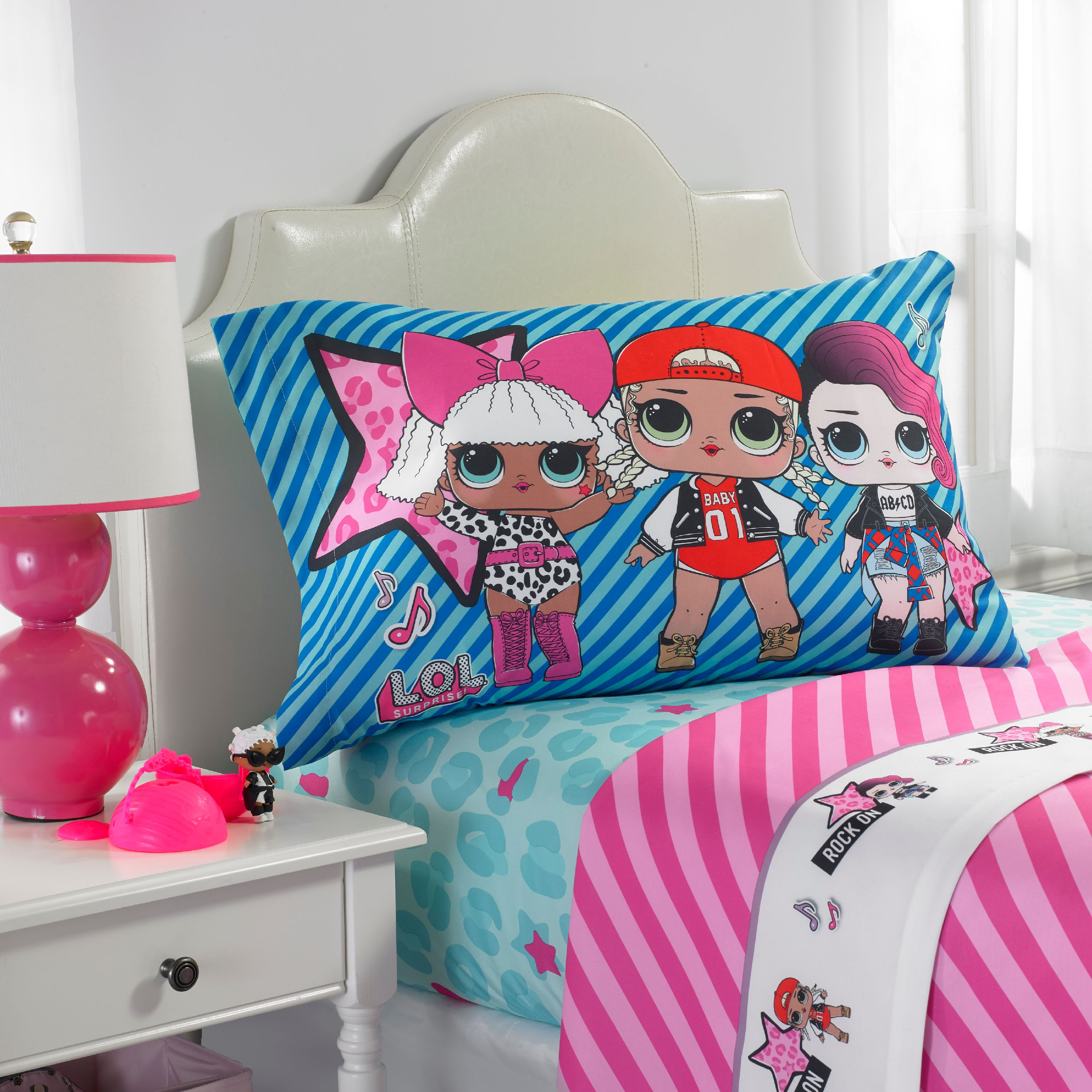 L.O.L. Surprise! Blue or Pink Kids Bedding Sheet Set, 1 Each