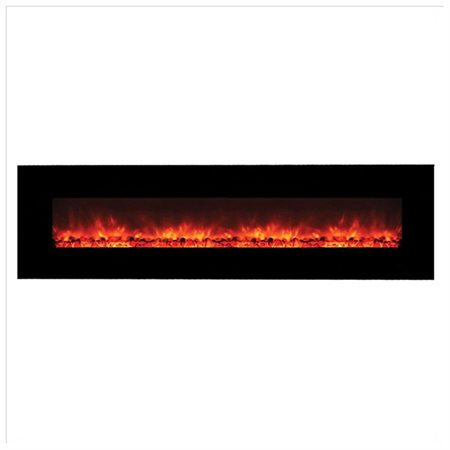 Contemporary Wide Gl Electric Fireplace With No Heater Fireplaces Wall Mounted Black