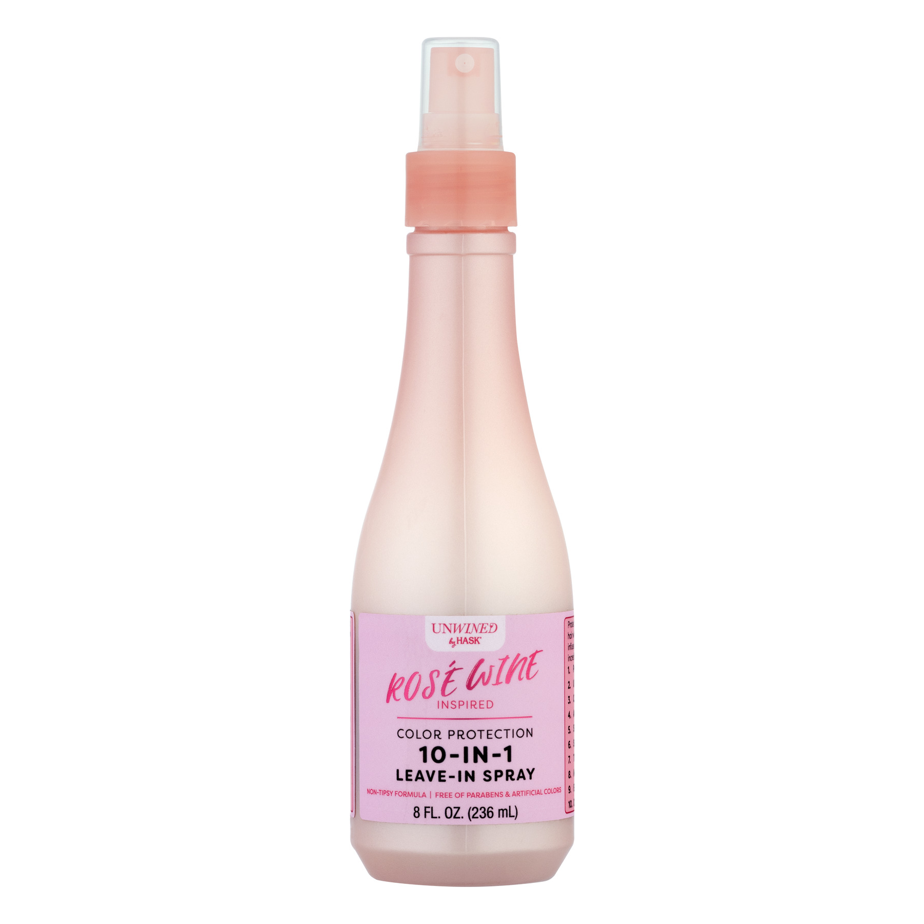 Hask Unwined Color Protection 10-In-1 Leave-In Spray Rose Wine, 8.0 FL OZ