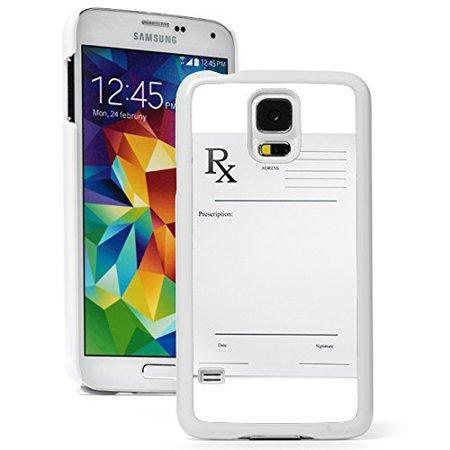 Samsung Galaxy  S5 Mini  Hard Back Case Cover Pharmacy Pharmacist Prescription Pad  White