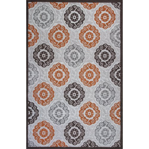 Red Barrel Studio Sealy Ivory Brown Indoor Outdoor Area Rug by