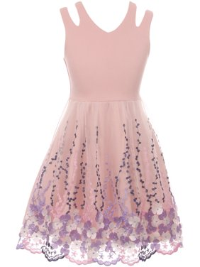 af8afdbac Product Image Little Girl Sleeveless 3D Flowers Embroidered Easter Summer Flower  Girl Dress Blush 4 JKS 2115 BNY. BNY Corner