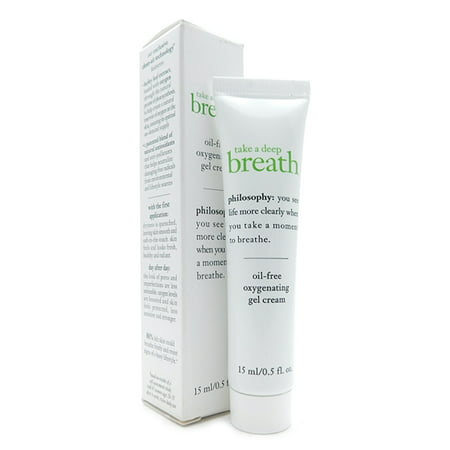 Philosophy Take a Deep Breath Oil-Free Oxygenating Gel Cream, 0.5 Fl (Best Way To Take Care Of Face)