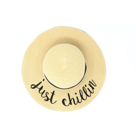 03fa740dc3b CC Exclusives Just Chillin Wide Brim Straw Floppy Hat with Ribbon Band