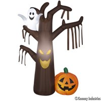 Airblown Halloween Inflatable Spook Tree w/Pumpkin And Ghost Deals