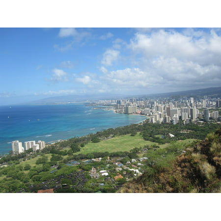 LAMINATED POSTER Hawaii Diamond Head Honolulu City Poster Print 24 x 36