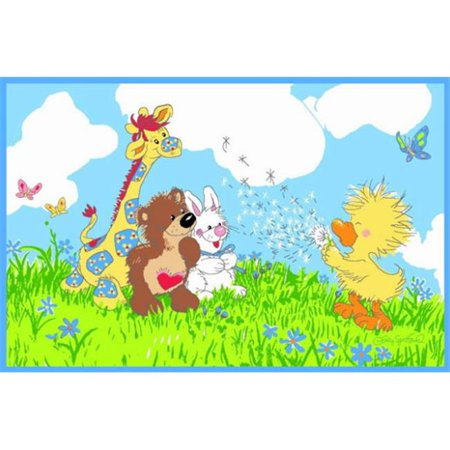 39 in. x 58 in. Little Suzys Zoo Witzy Makes A Wish Rug - image 1 of 1