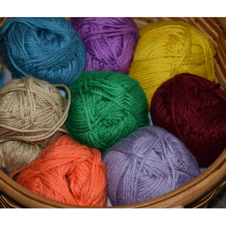 - LAMINATED POSTER Cotton Knitting Yarn Craft Crochet Cotton Yarn Poster Print 24 x 36