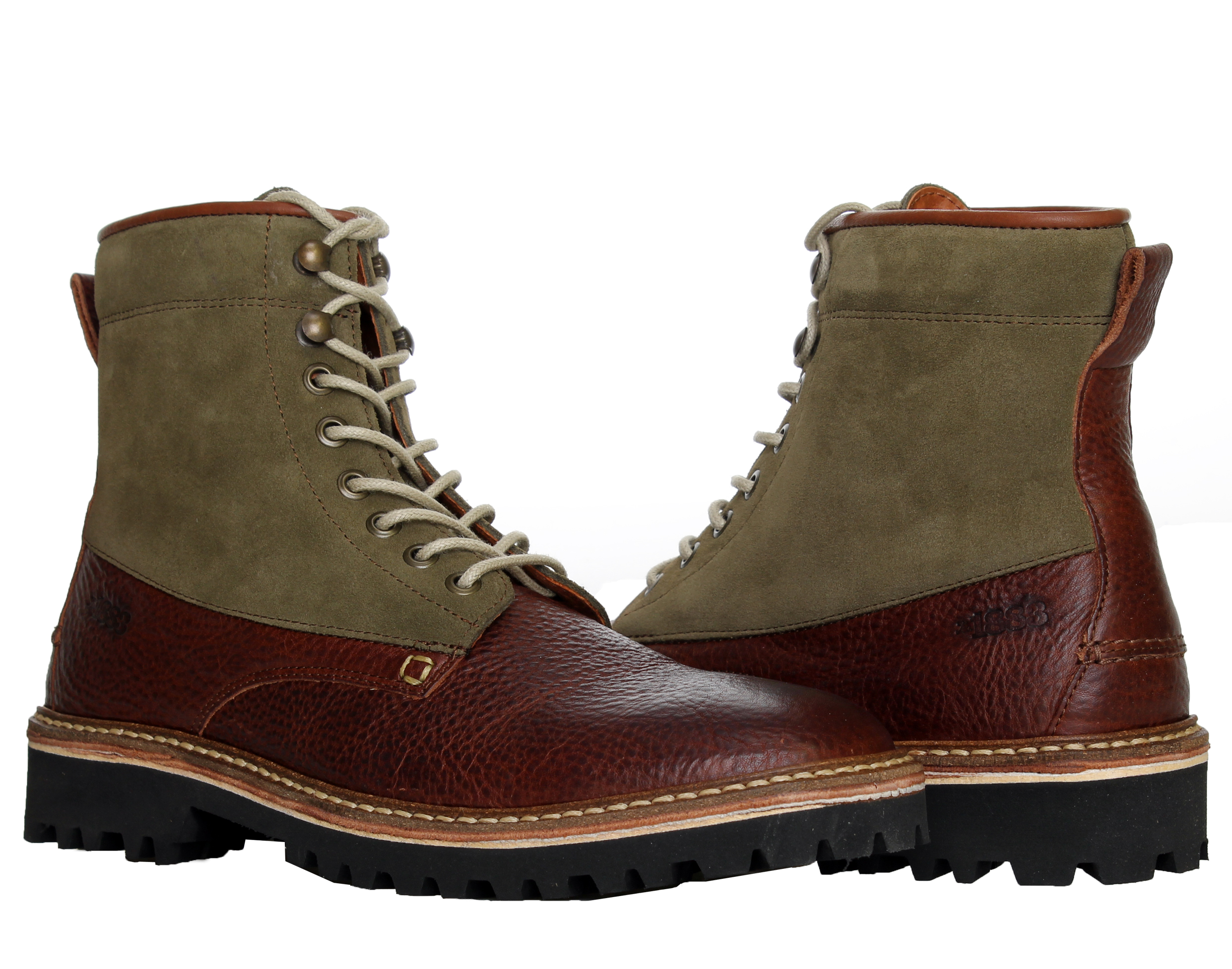 1883 by Wolverine Tomas Plain-Toe Hiker Brown Men's Boots W00775 by