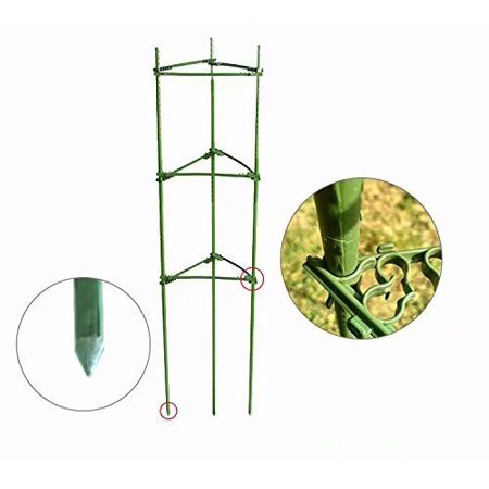 EcoTrellis Garden Mini Trellis Tomato/Plant Cage Plant Climbing Support, Triangular, 4ft High Dia 3/7