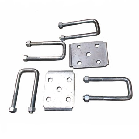 Boat Trailer Leaf Spring Axle U-Bolt Kit Square 2