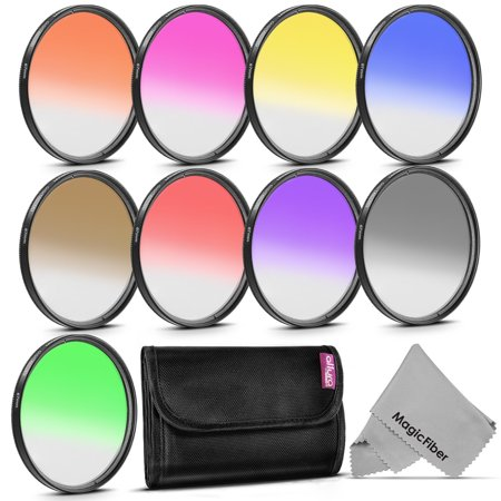 67MM Altura Photo Graduated Color Filters for CANON Rebel T5i T4i T3i T2i T1i SL1, EOS 700D 650D 600D 550D 500D 100D DSLR Cameras with a 18-135MM or 70-200MM Zoom Lens + ND Filters