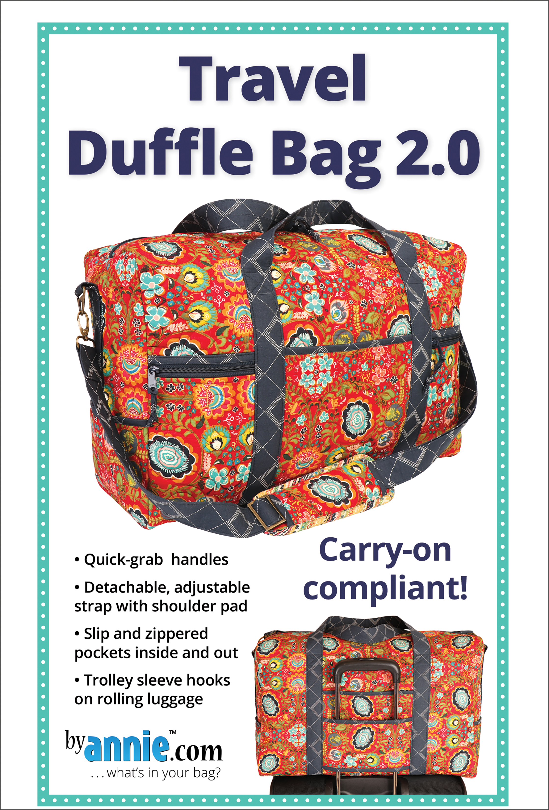 Travel Duffle Bag 2.0 Patterns By Annie by By Annie