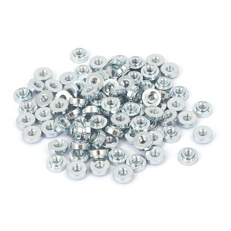 S-M2.5-1 Carbon Steel Self Clinching Rivet Nut 100pcs for 1.0mm Thin Plates Thin Foot Plate
