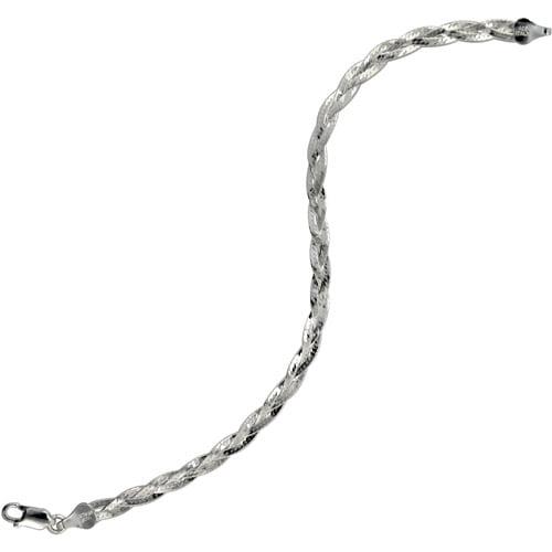 Women's Sterling Silver 035 Herringbone Bracelet, 7.5