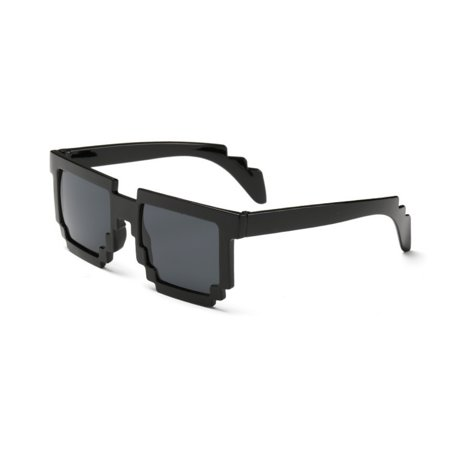Deal With It 8 Bit Pixel Black Framed Glasses Sunglasses Meme Thug Life Video - 8 Bit Sunglasses