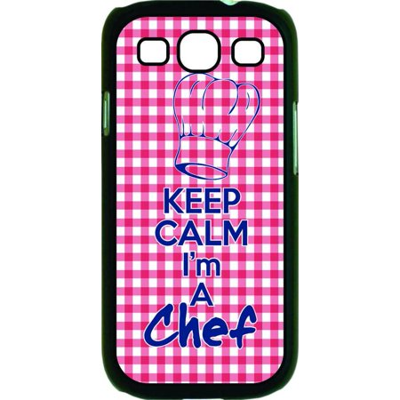 Keep Calm I'm a Chef Hard Black Plastic Case Compatible with the Samsung Galaxy s3 i9300 Phone (Chef Collection Samsung)