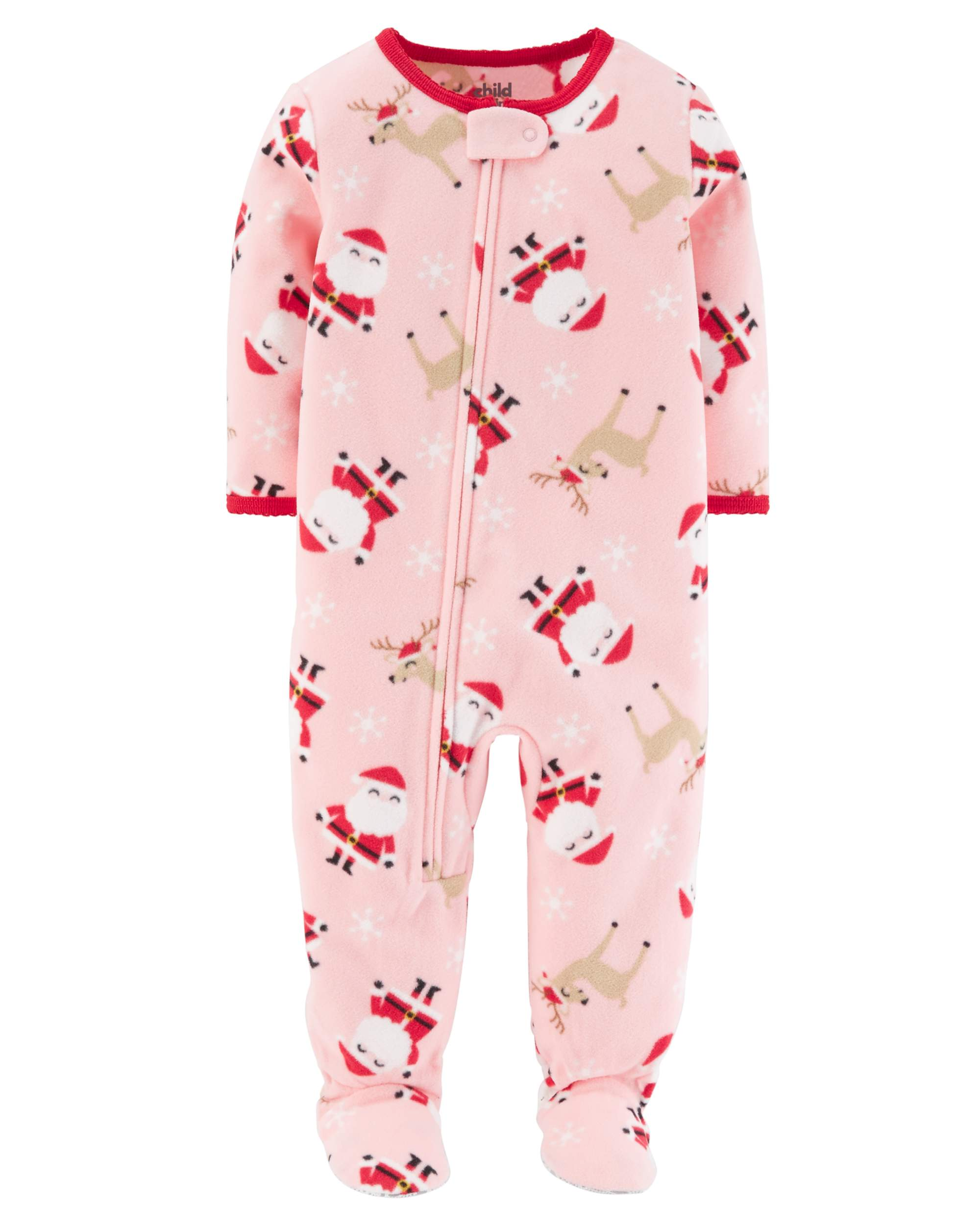 b6c3c5ea7b Baby Girl Holiday Blanket Fleece Pajamas - Walmart.com