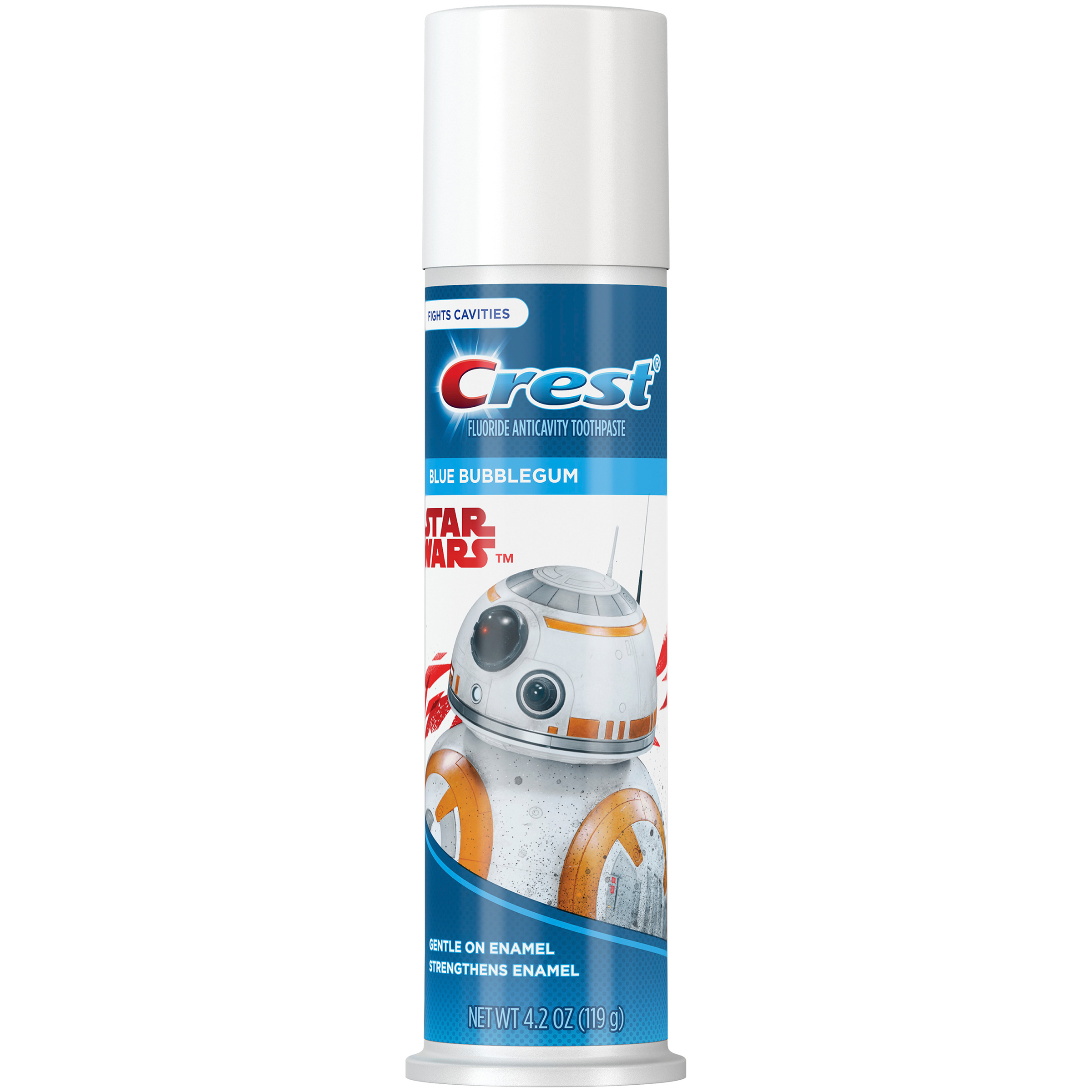 (2 pack) Crest Kid's Toothpaste Featuring Disney's STAR WARS (children and toddlers 2+), Bubblegum, 4.2 ounces