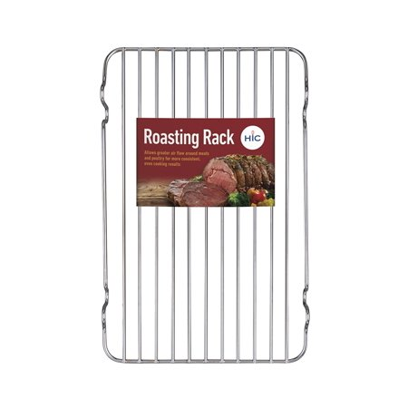 HIC Broiler Rack, 12-Inches x 7.5-Inches, HIC's Roasting Rack for baking, roasting and broiling beef, poultry, pork, game, and fish, oven roasted.., By HIC Harold Import