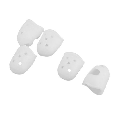 Guitar Ukulele Banjo Bass Fingertip Finger Guards Picks Protector White S