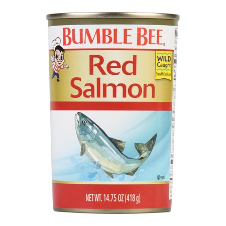 Bumble Bee Wild Alaska Red Salmon, 14.75 Ounce Can, Wild Caught, High Protein Food and