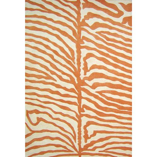 Alliyah Handmade Orange New Zealand Blend Wool Rug  (5' x 8')