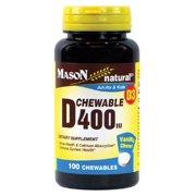 Mason Vitamins Natural Vitamin D 400 IU Chewable - 100ct