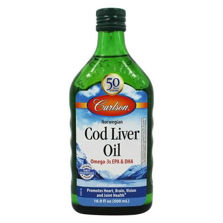 Carlson Labs   Norwegian Cod Liver Oil Regular Flavor   16 9 Oz