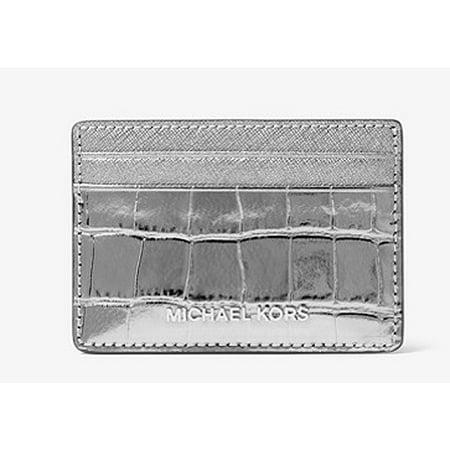 8ee4e4f9f6a3 Jet Set Travel Metallic Embossed-Leather - Card Case - Gunmetal -  32F7MF6D0E-041 - Walmart.com