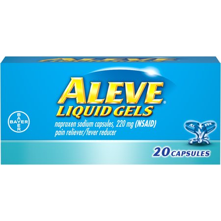 Aleve Liquid Gels w Naproxen Sodium, Pain Reliever/Fever Reducer, 220 mg, 20