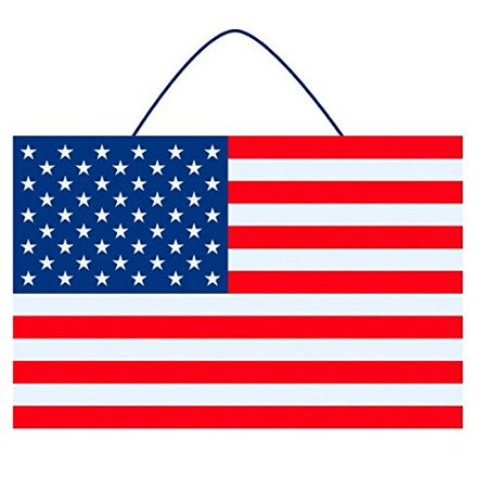 OLD GLORY FOURTH OF JULY PARTY AMERICAN FLAG LARGE SIGN HANGING - Fourth Of July Signs