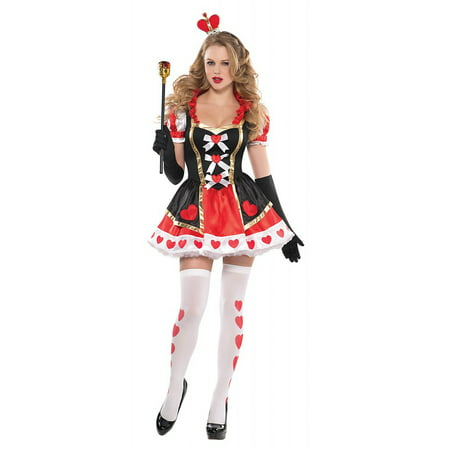 Charmed Queen of Hearts Adult Costume - Medium - Queen Of Hearts Costume Pattern