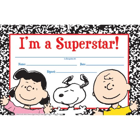 PEANUTS SUPER STAR RECOGNITION AWARDS](Funny Recognition Awards)