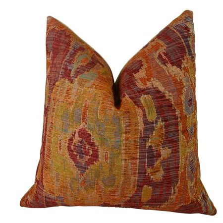 "Plutus Bear Canyon Ikat Handmade Throw Pillow, (Double sided 26"" x 26"") - image 1 of 1"